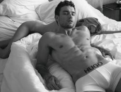 Stella Maxwell and Liam Payne in a campaign ad for Hugo Boss.