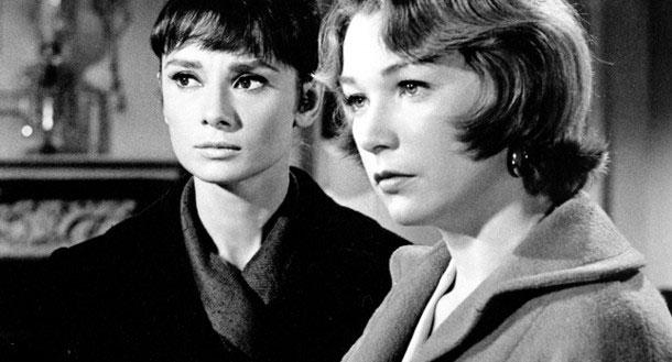 """Audrey Hepburn and Shirley MacLaine in """"The Children's Hour"""""""