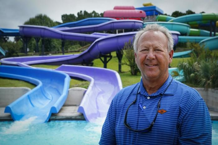 Mark Lazarus, the president and owner of Lazarus Entertainment Group, poses for a picture, Thursday, July 9, 2020, in Myrtle Beach, S.C.
