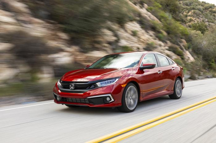 This photo provided by Honda shows the 2020 Honda Civic, an example of a vehicle that holds its value so well on the used market that it's worthwhile considering buying a new model.