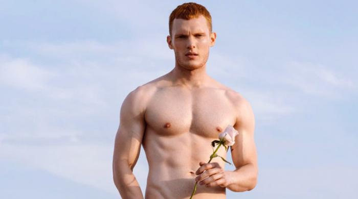 Model Sam How. One of the gingers in the Red Hot 2021 Calendar
