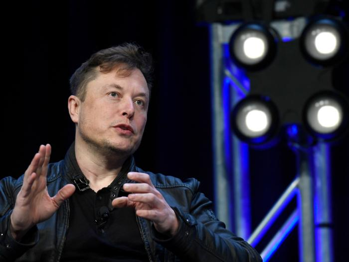 In this March 9, 2020, file photo, Tesla and SpaceX Chief Executive Officer Elon Musk speaks at the SATELLITE Conference and Exhibition in Washington.
