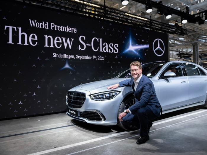 """Ola Kaellenius, Chairman of the Board of Management of Daimler AG, presents the new Mercedes-Benz S-Class at the world premiere in the """"Factory 56"""" in Sindelfingen, Germany, Wednesday, Spt.2, 2020"""