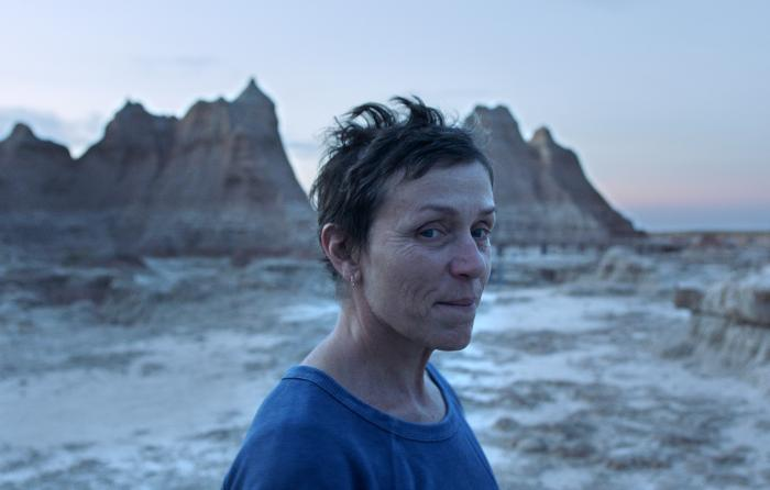 """Frances McDormand in a scene from the film """"Nomadland"""" by Chloe Zhao."""