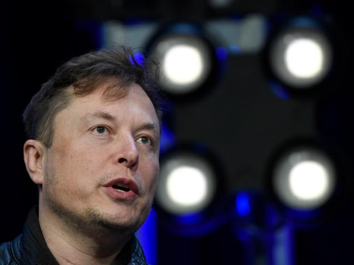 In this March 9, 2020, file photo, Tesla and SpaceX Chief Executive Officer Elon Musk speaks at the SATELLITE Conference and Exhibition in Washington