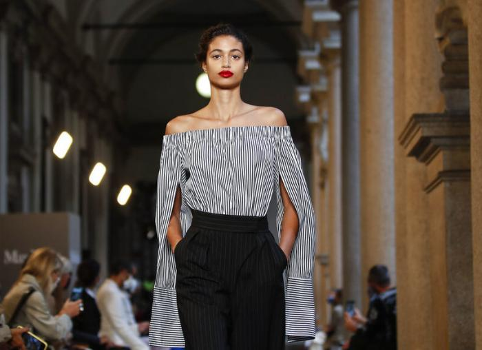 Max Mara 2021 women's spring-summer ready-to-wear collection during the Milan's fashion week.