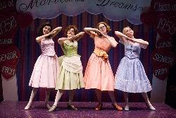 The Marvelous Wonderettes: Dina DiCostanzo (Cindy Lou), Tempe Thomas (Betty Jean), Laura Taylor (Missy) and Cat Davis (Suzy)