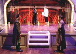 A scene from the  Writers' Theatre's production of Rosencrantz and Guildenstern Are Dead.
