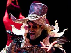 Marvin Eduardo Quijada in Silent Theatre Company's Carnival  Nocturne, playing though Dec. 20